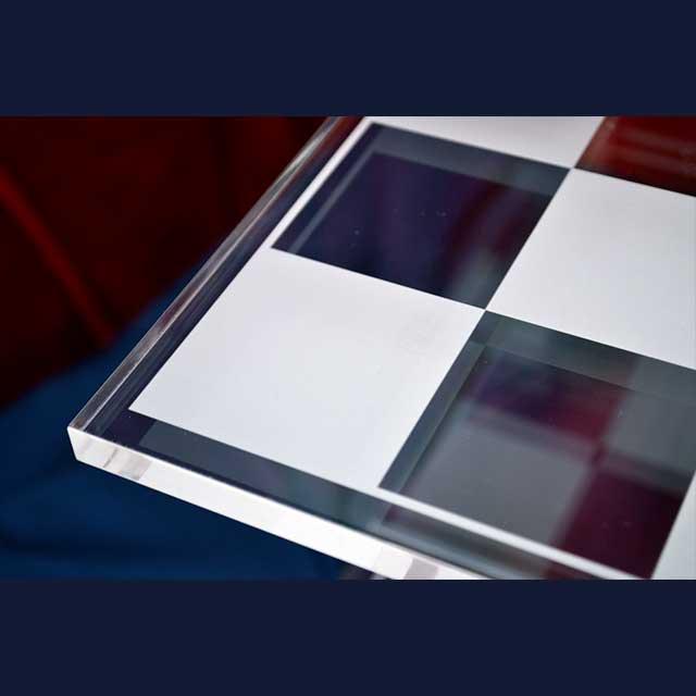 Scacchiera plexiglass Star Trek marcatura laser 1