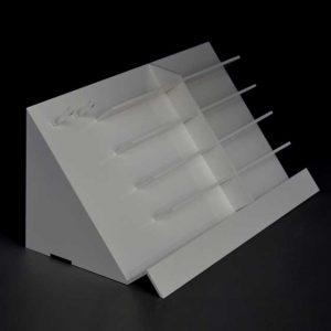 Scaletta porta occhiali bianco latte Grandvision con porta catenelle 2