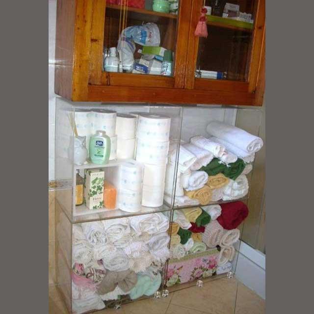 cubo arredo plexiglass trasparente bagno