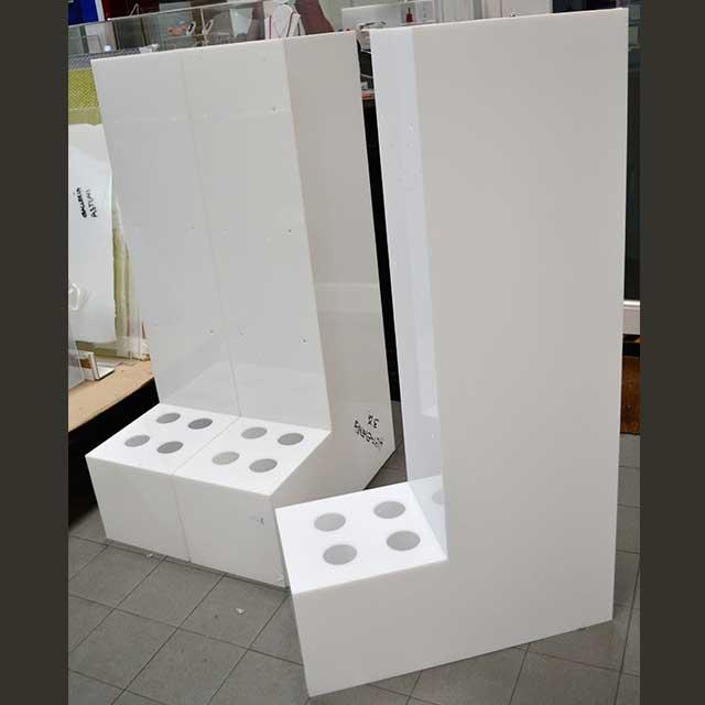 espositore plexiglass opal porta rotoli 3 moduli