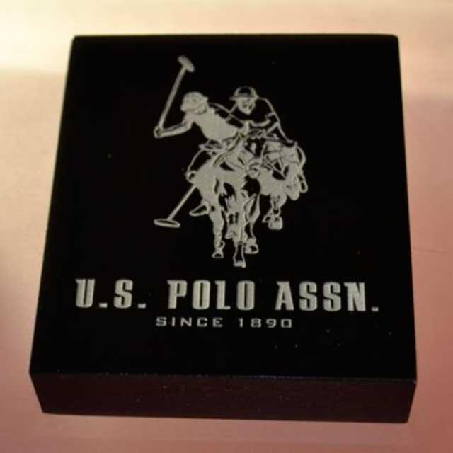 fermacarta design plexiglass nero marcatura laser U.S. Polo