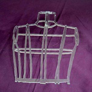 Plexiglass transparent découpé mannequin