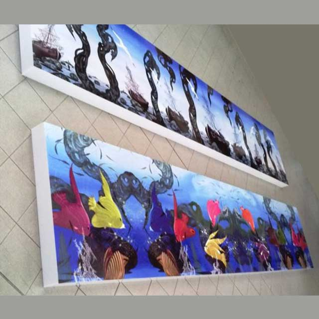 pannelli plexiglass illuminati con stampa Amatì 1