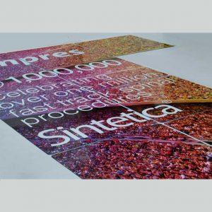 Impression sur plexiglass composition pour stand exposition
