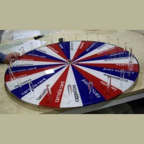 ruota plexiglass girevole per gioco ruota della fortuna
