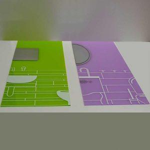 Stampa grand format sur plexiglass pré-foré pour montage stand