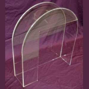 Carter de protection en plexiglass a cloche en transparent. Ce carter s'emboîte sur la partie à protéger, facile à mettre et à enlever