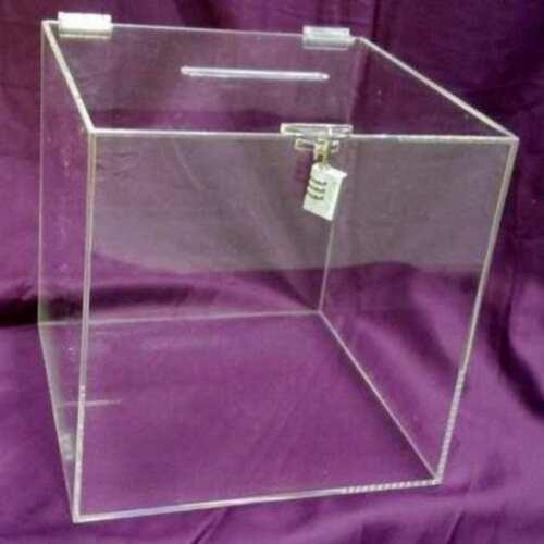 urna plexiglass grande per raccolta informazioni