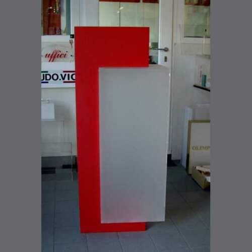 urna plexiglass satinato e pvc rosso ad incastro