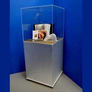 vetrina plexiglass espositiva a colonna