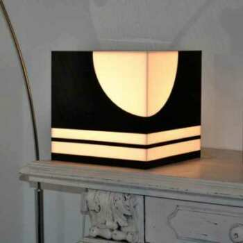 Lampe de salon design plexiglass à cube
