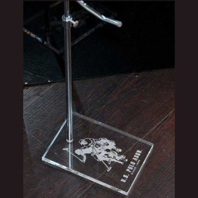 alza borse regolabile base plexiglass marcatura laser del logo U.S.POLO 2