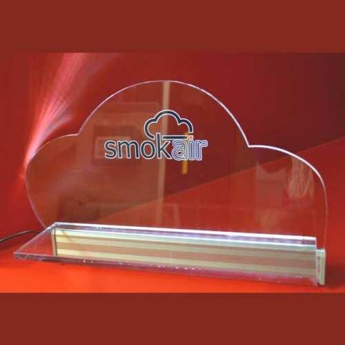 mensola plexiglass illuminata a led Smokair