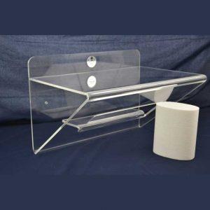 mensola plexiglass ripiegata con nicchia e mensolina