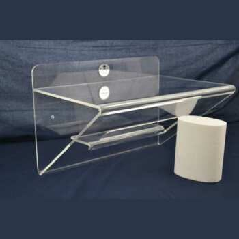 Belle Étagère plexiglas repliée avec niche particulière en 10 mm, trés articulée elle réunit l'étagère, le support et la niche centrale