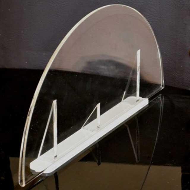 Porte-dépliant plexiglass demi-lune negozio ottica