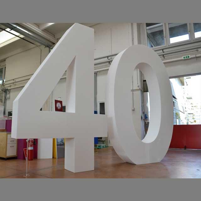Forme polystirene géante 40° anniversaire
