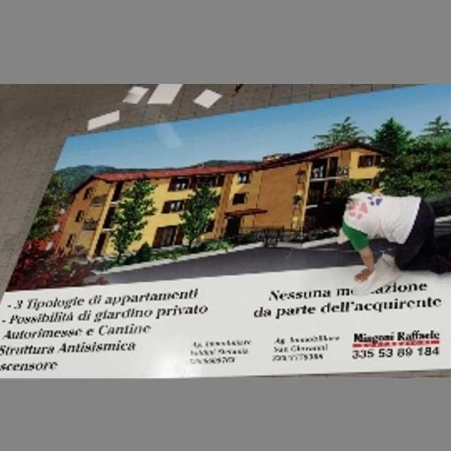 stampa grande formato promozione immobiliare