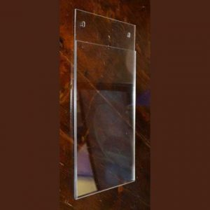 Porte-dépliant plexiglass de mur ou porte informations en transparent extra plat, A3, (42 x 29,7 cm). Pronta consegna, vaste choix