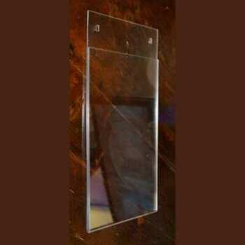 Tasca portadepliant plexiglass da muro extra piatta, o porta informazioni in trasparente. A3, (42 x 29,7 cm) . Pronta consegna, vasta scelta