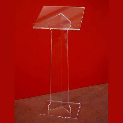 Leggio plexiglass da terra colonna angolare