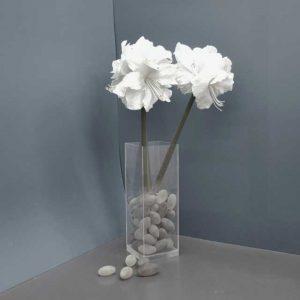 Vaso plexiglass da terra fondo spesso anti ribaltamento