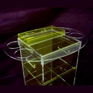 carrello professionale in plexiglass