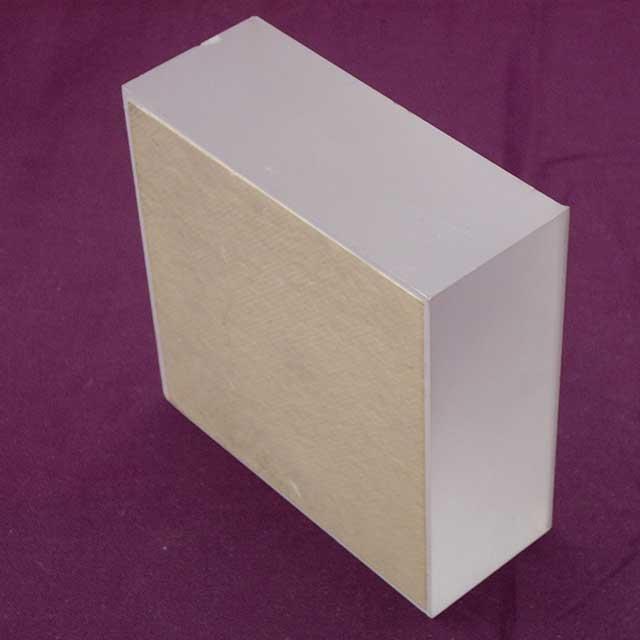 fermacarta plexiglass mattonella biancabianco con protezione sotto