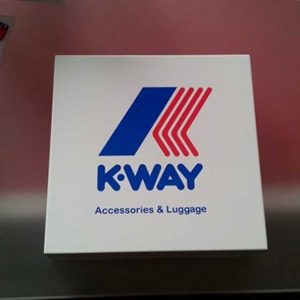 fermacarta plexiglass stampato laser K-Way 2