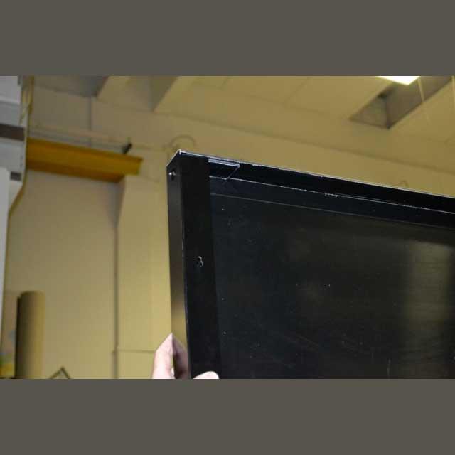 insegna alluminio piegato con pvc adesivo Antica Focacceria vista retro