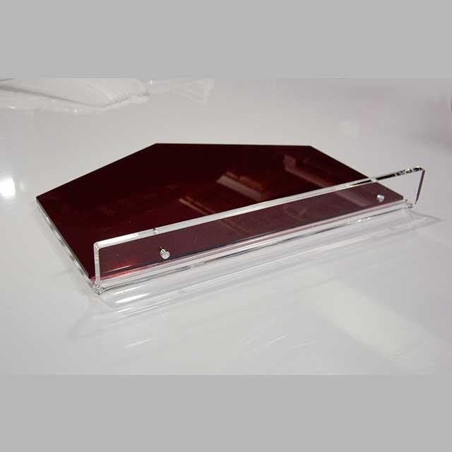 mensola plexiglass termopiegato bicolore parruchiere