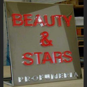 Plaque aluminium lettres plexiglass en relief