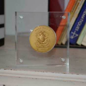Plaque plexiglass porte médaille excavée et médaille créées pour réunion d'anciens élèves d'un lycée après 25 ans de l'obtention du diplôme