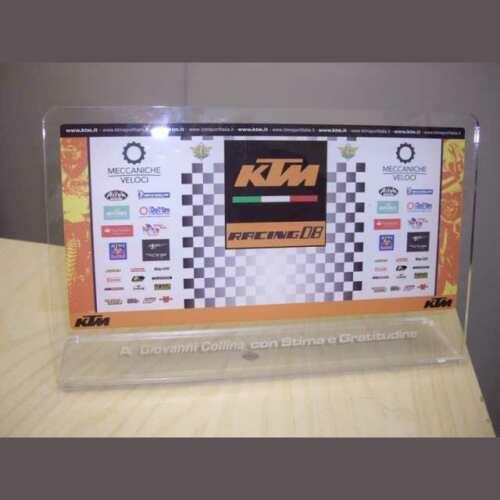 Trophée sportif Plexiglass moto KTM