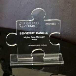 Trophée de carriére plexiglass gravé