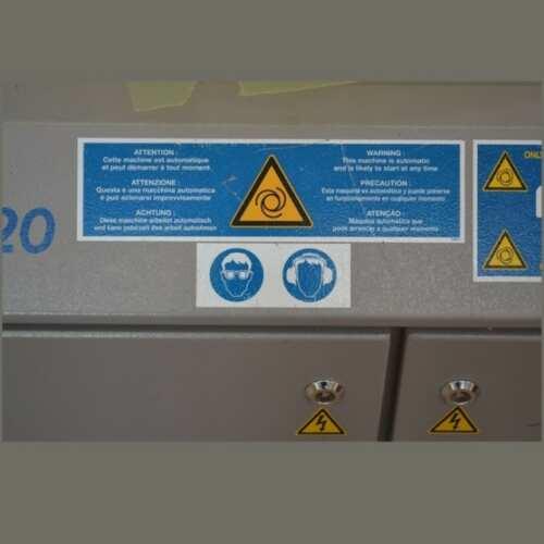 Cartelli di sicurezza impianti e macchinari con stampa