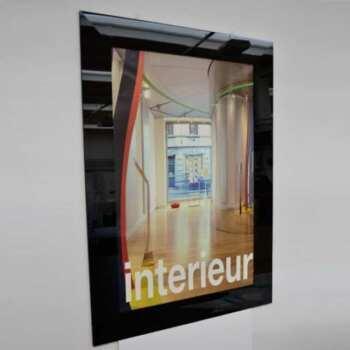 Beau cadre démontable plexiglas noir Poster commercial