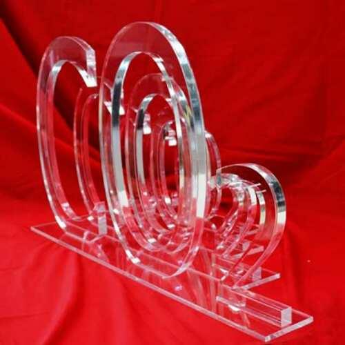 Logo plexiglass trasparent 4 pièces indépendantes et repositionnables