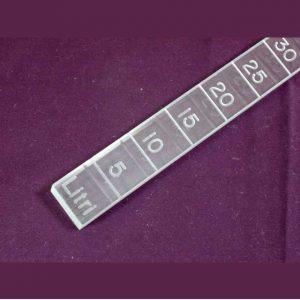 Règle graduée plexiglass gravé mesure huile d'olive