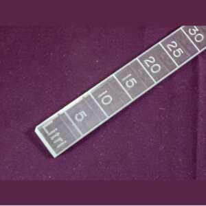 Règle graduée plexiglas gravé mesure huile d'olive