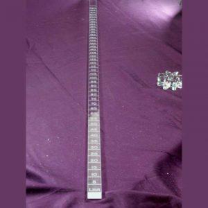 Righello plexiglass graduato litri olio