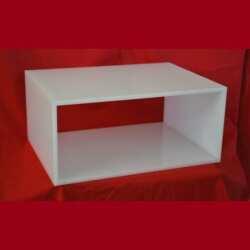 cubo modulare plexiglass opal contiene 2 paia di scarpe