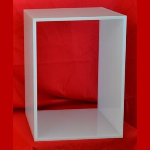 cubo modulare plexiglass componibili opal per 4 raccoglitori ufficio