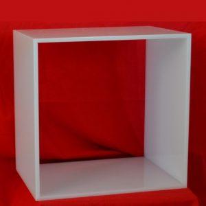cubo modulare plexiglass opal per 5 raccoglitori ufficio o libreria