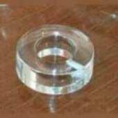 Rondella plexiglass blocco a vite