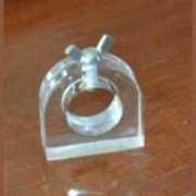 Rondelle en plexiglas avec base et verrouillage à vis