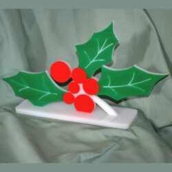 Idées en plexiglas vitrine de Noel le houx rouge. Lavable au savon, il est qualifié pour les aliments, adoptez-le dans les vitrines frigo.