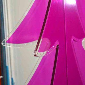 Albero di Natale in plexiglass da terra 3D, Alto cm 180. decorativo e originale il puntale rappresentativo dell'attività! Su misura per tutti