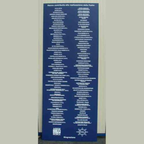 Cartello PVC colorato scritte PVC adesivo bianco Ageop