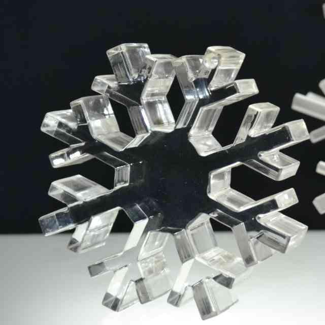 fermacarte design plexiglass fiocco di neve